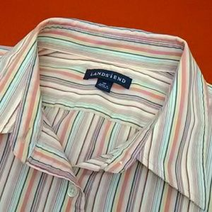 Lands' End Tops - Colorful Button Down Shirt by Lands' End Size 16P